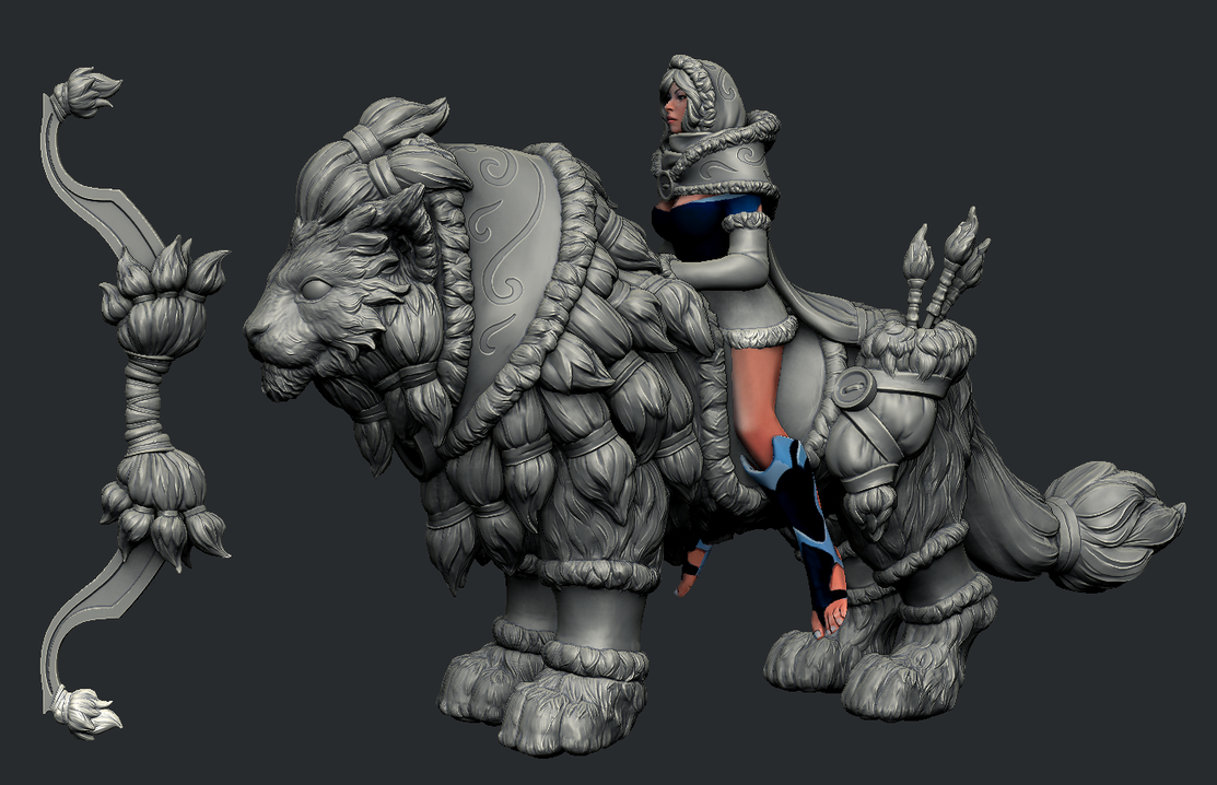 Final Mirana SnowSotrm Highpoly by Anuxinamoon