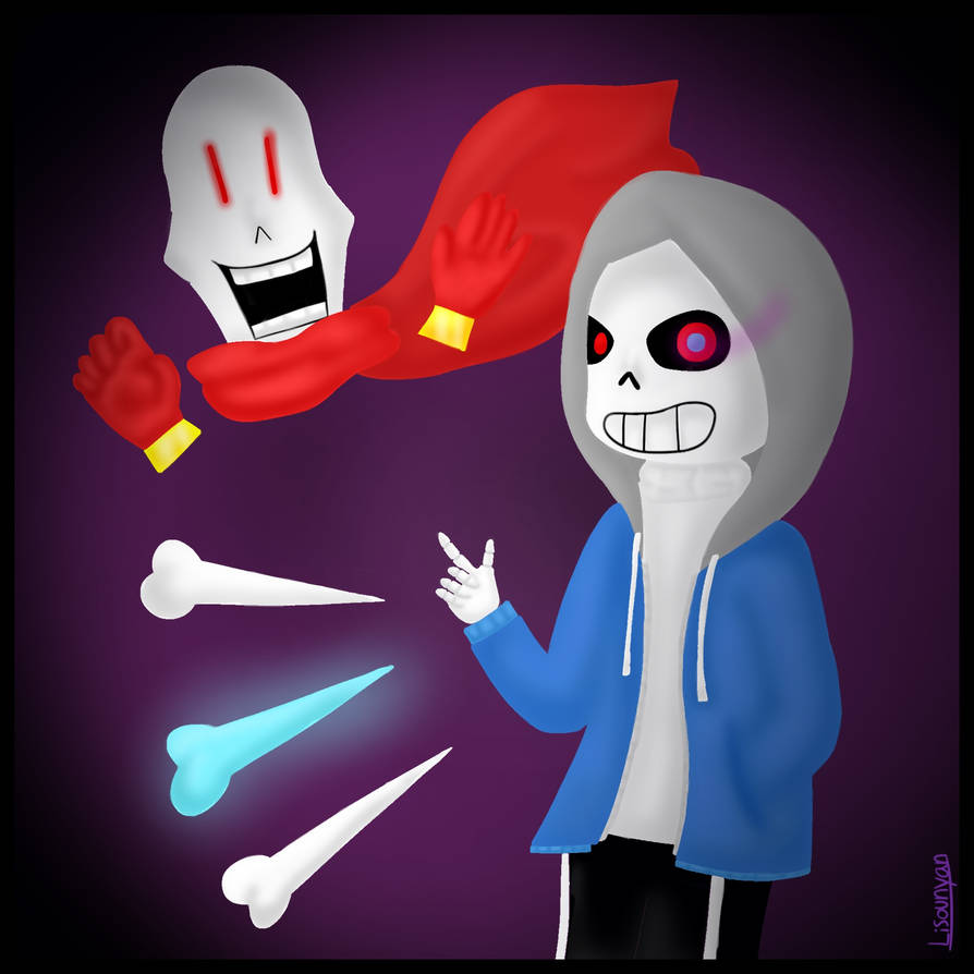 Dusttale Sans and Papyrus by Lisounyan on DeviantArt