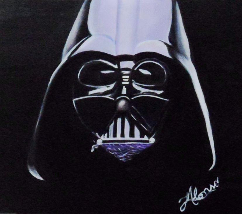 Darths Vader Oil Painting By Lialonso