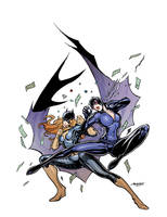 Batgirl Vs Catwoman by moritat