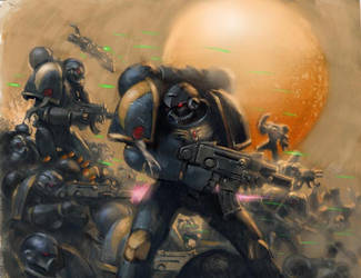 sabertooth marines warhammer by moritat