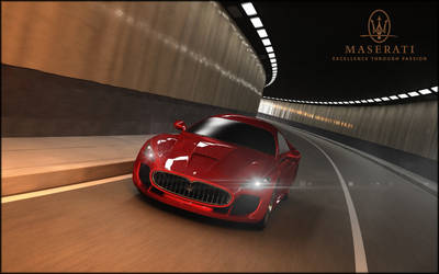 Maserati in Tunnel