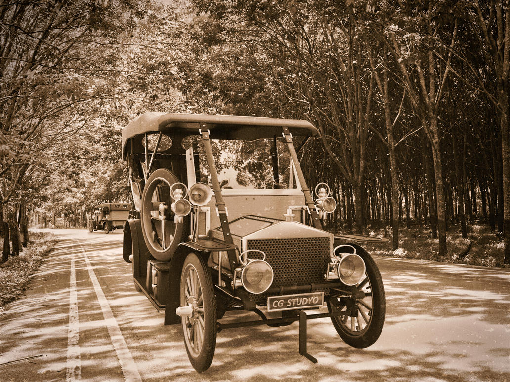 Classical Car Render vintage effects by schaten