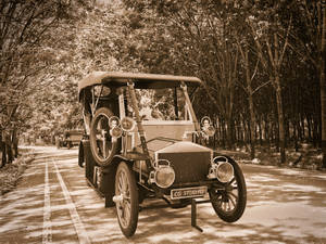 Classical Car Render vintage effects