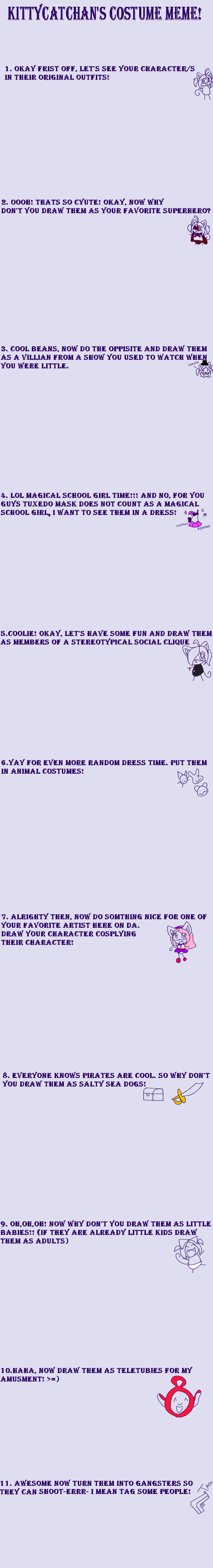 Costume Meme by kittycatchan