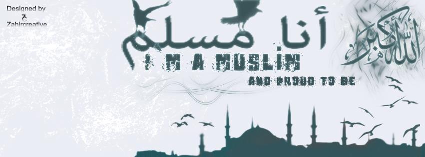 image of i am a muslim facebook timeline cover