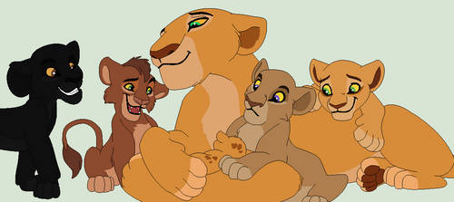 Meeting The Cubs of the Pridelands by Brendalobinha