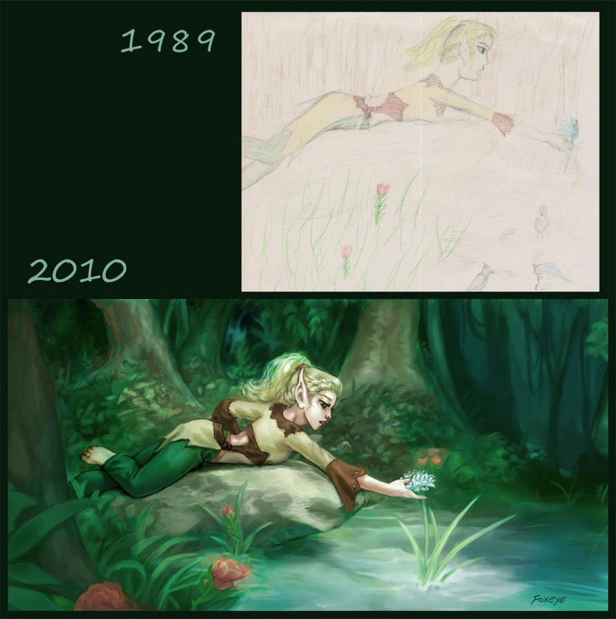 Flowergirl - two decades later by Foxeye
