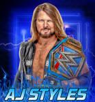 AJ Styles Universal Champion Wallpaper 2021 HD