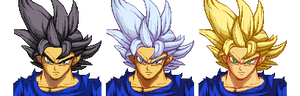 Ultra Instinct Goku and Alternative Version's