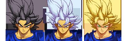 Ultra Instinct Goku and Alternative Version's by K3RCY