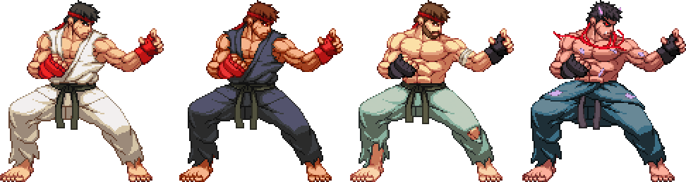 Ryu, Evil Ryu and Kage by K3RCY