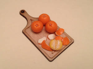 Hand sculpted mini polymer clay oranges