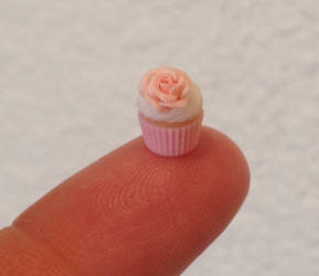 Miniature polymer clay cupcake
