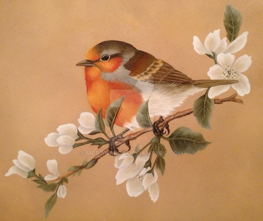 English Robin in Oil by MeganHess