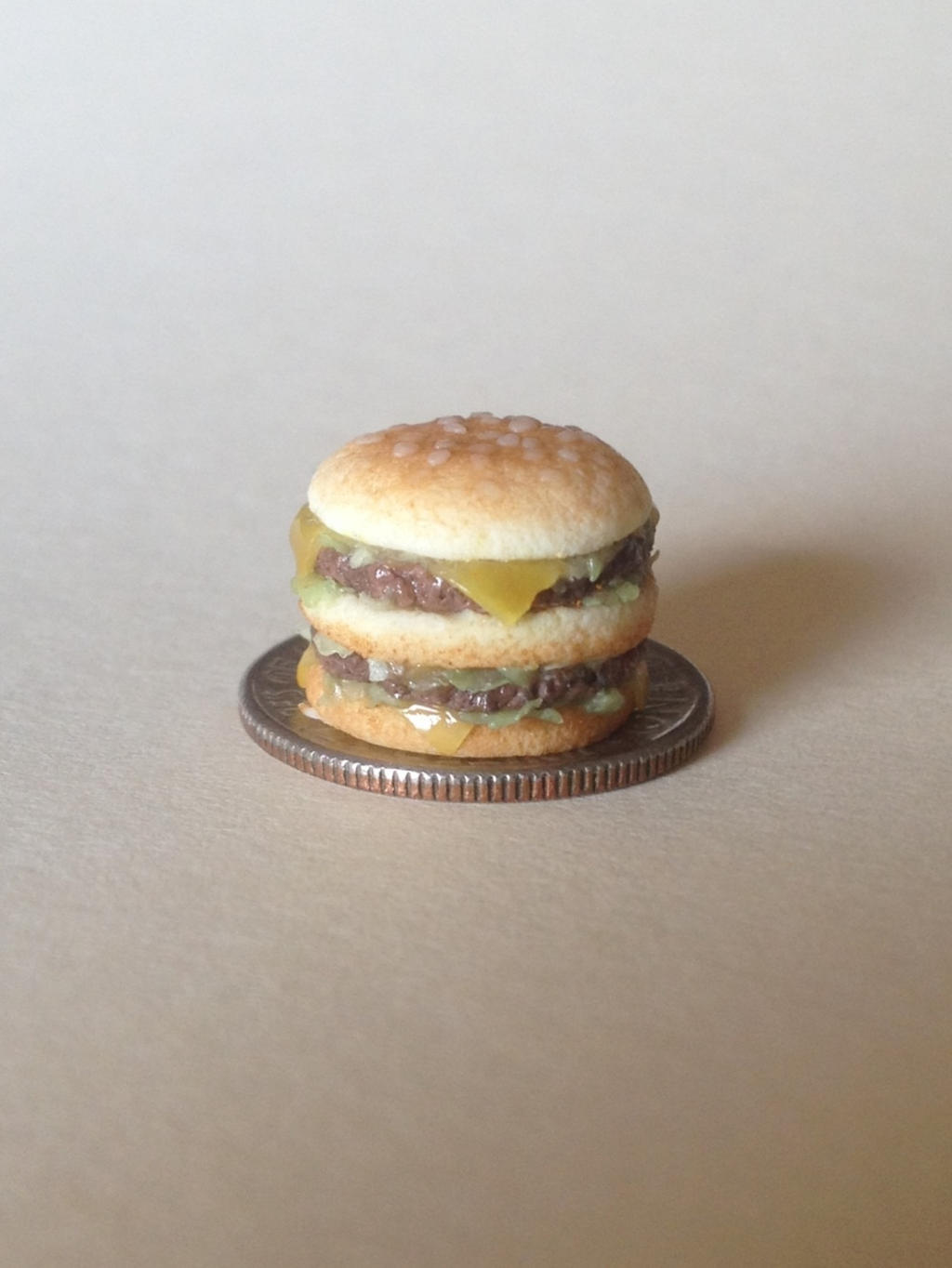 Miniature Polymer Clay Hamburger by MeganHess