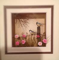 Miniature Chickadee Shadow Box by MeganHess