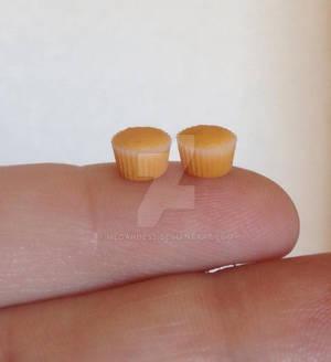 Plain miniature polymer clay cupcakes