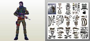 Cassian Andor - Star Wars - Rogue One - papercraft