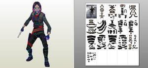 Jyn Erso - Star Wars - Rogue One - papercraft