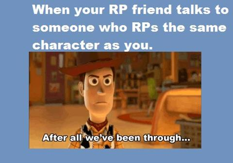 When you rp with others by BurntScones