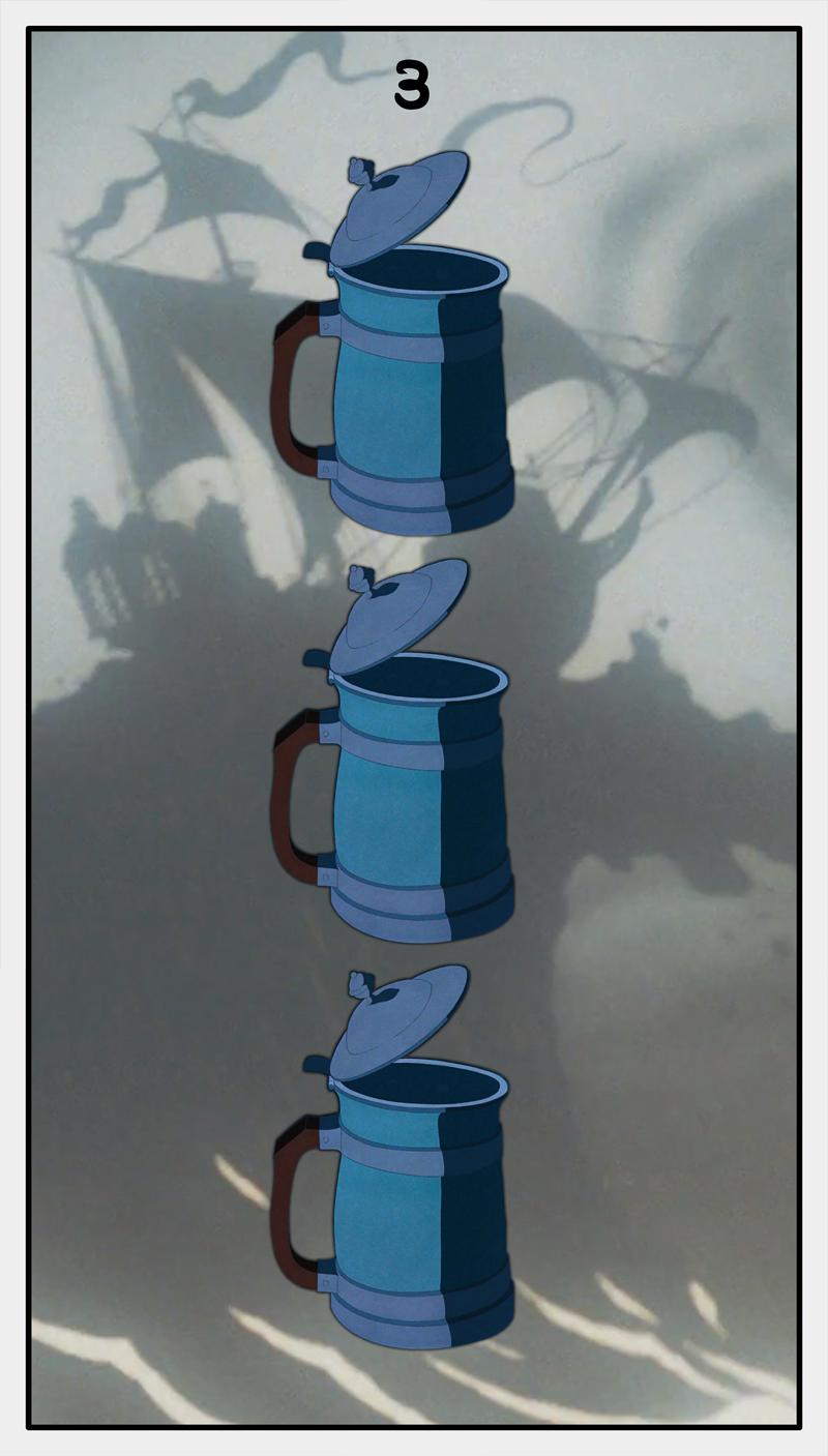 Dmorte Tarot Cups: 3