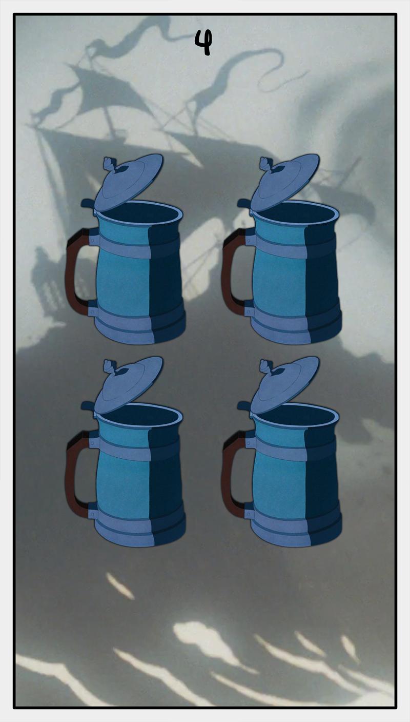 Dmorte Tarot Cups: 4
