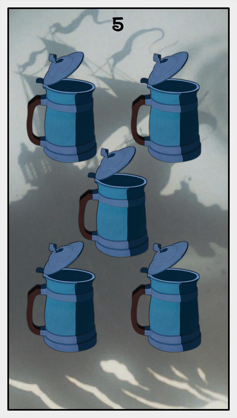 Dmorte Tarot Cups: 5