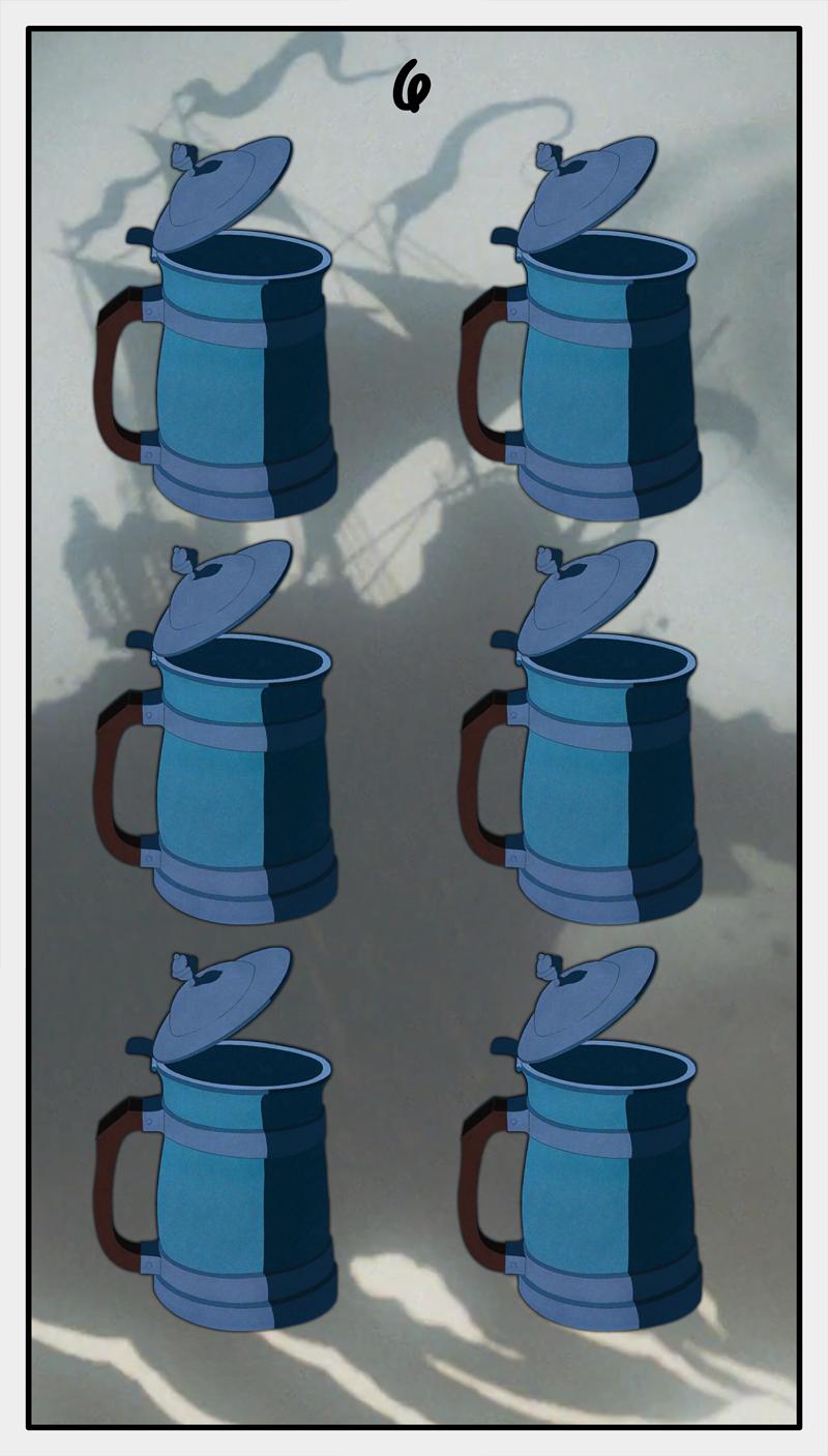 Dmorte Tarot Cups: 6