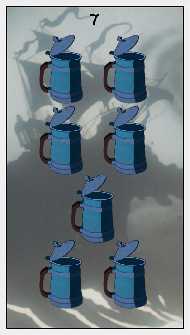 Dmorte Tarot Cups: 7