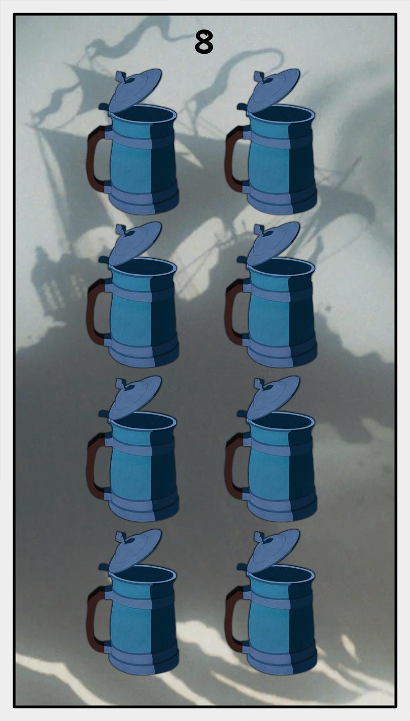 Dmorte Tarot Cups: 8