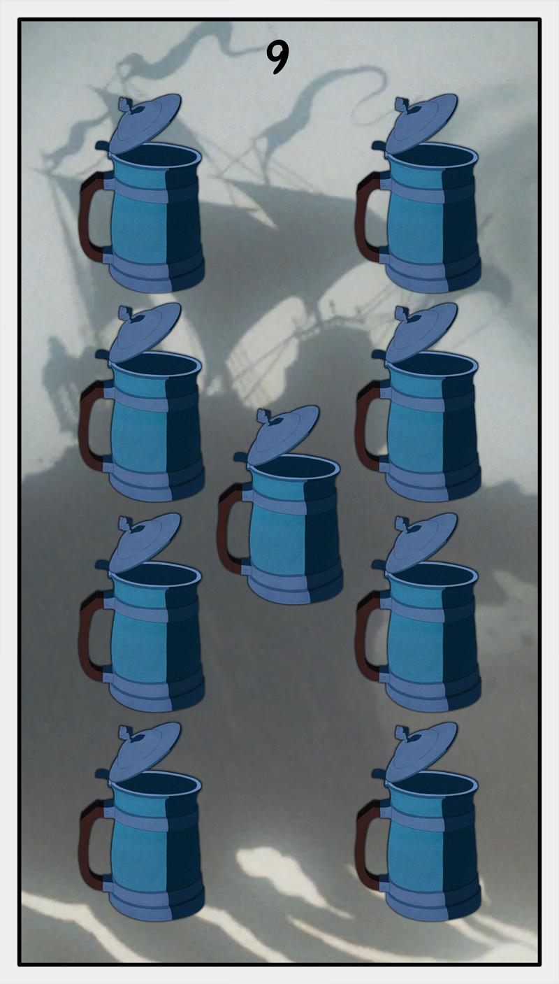 Dmorte Tarot Cups: 9
