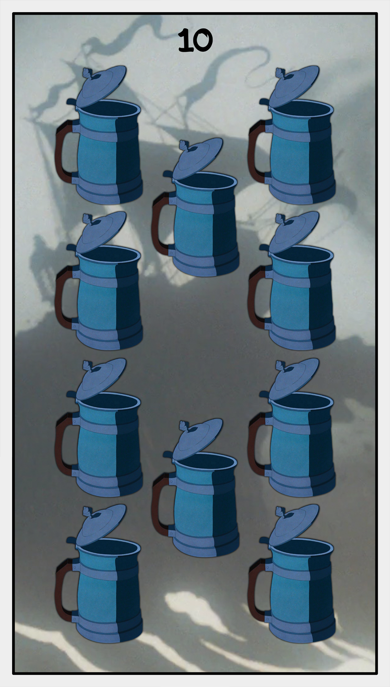 Dmorte Tarot Cups: 10