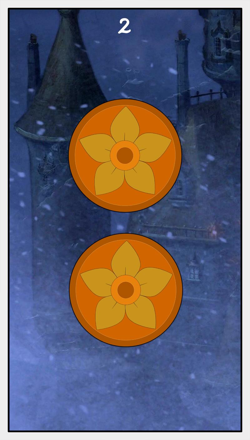 Dmorte Tarot Pentacles: 2