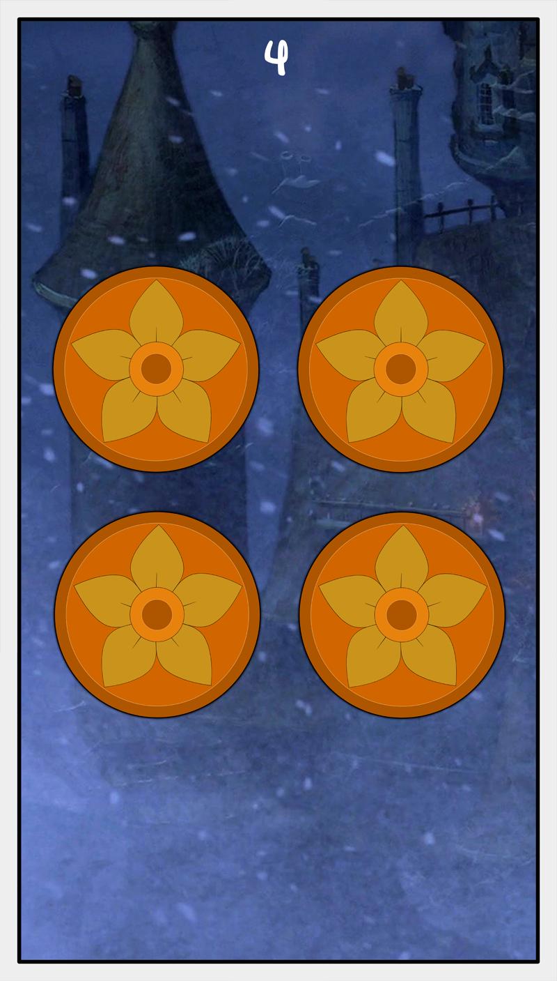 Dmorte Tarot Pentacles: 4