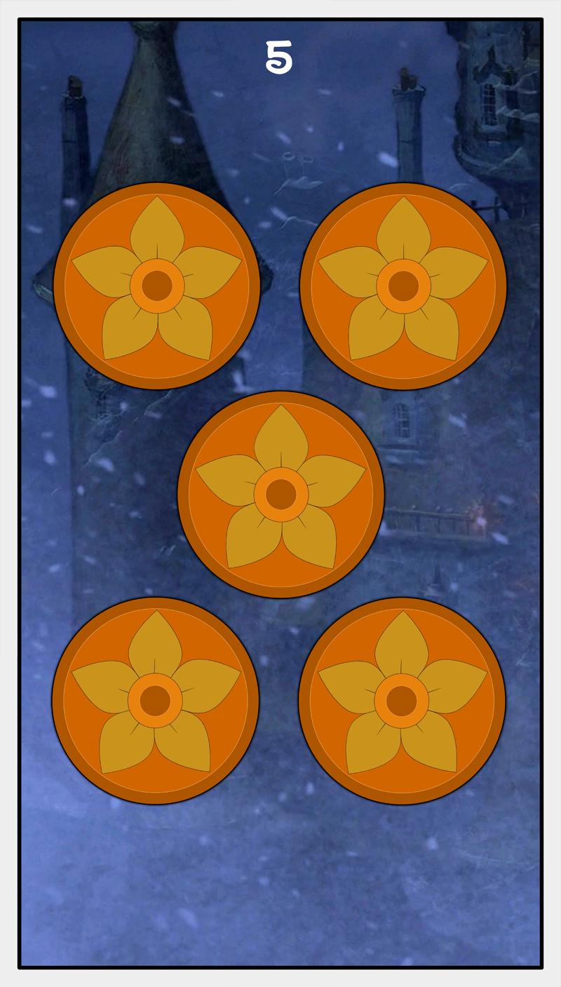 Dmorte Tarot Pentacles: 5