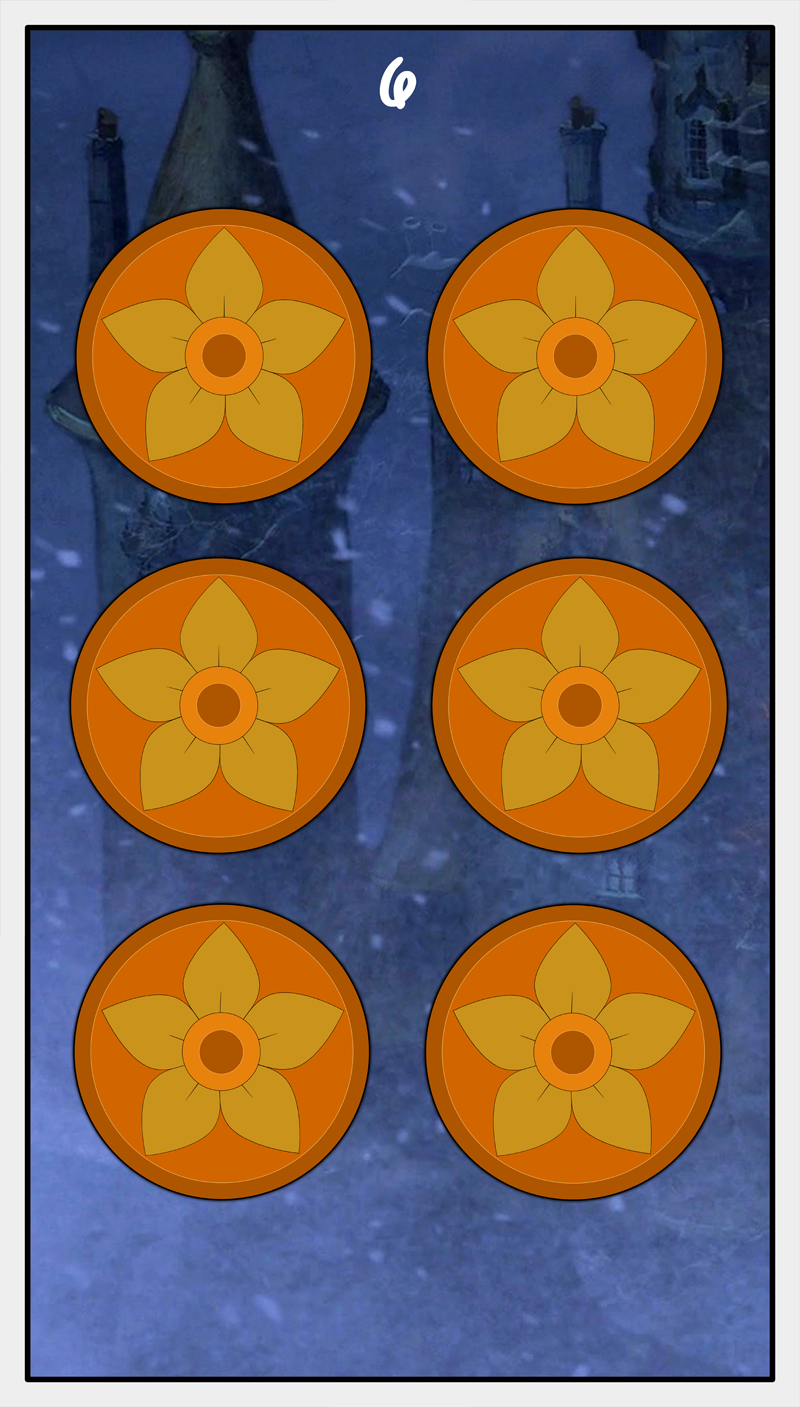 Dmorte Tarot Pentacles: 6