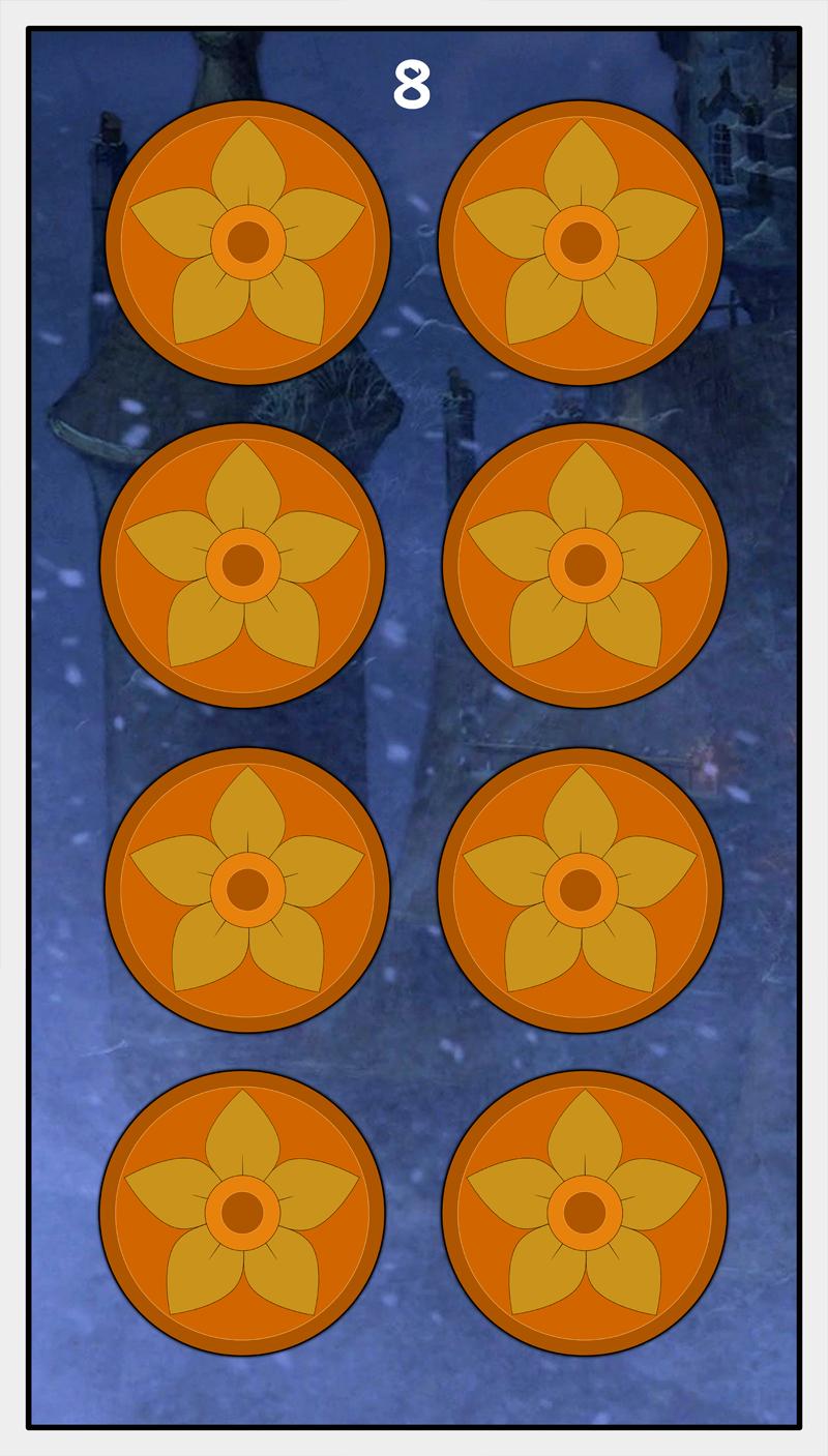 Dmorte Tarot Pentacles: 8