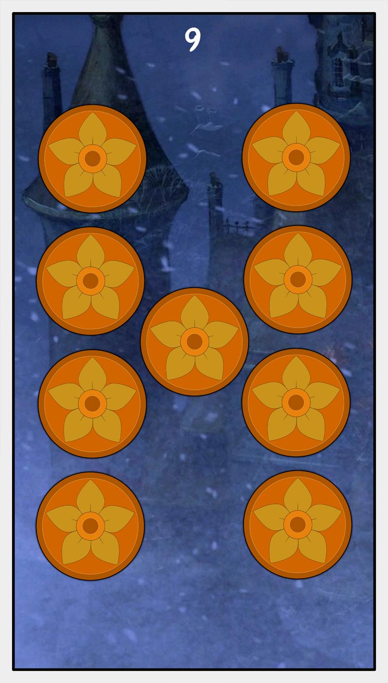 Dmorte Tarot Pentacles: 9