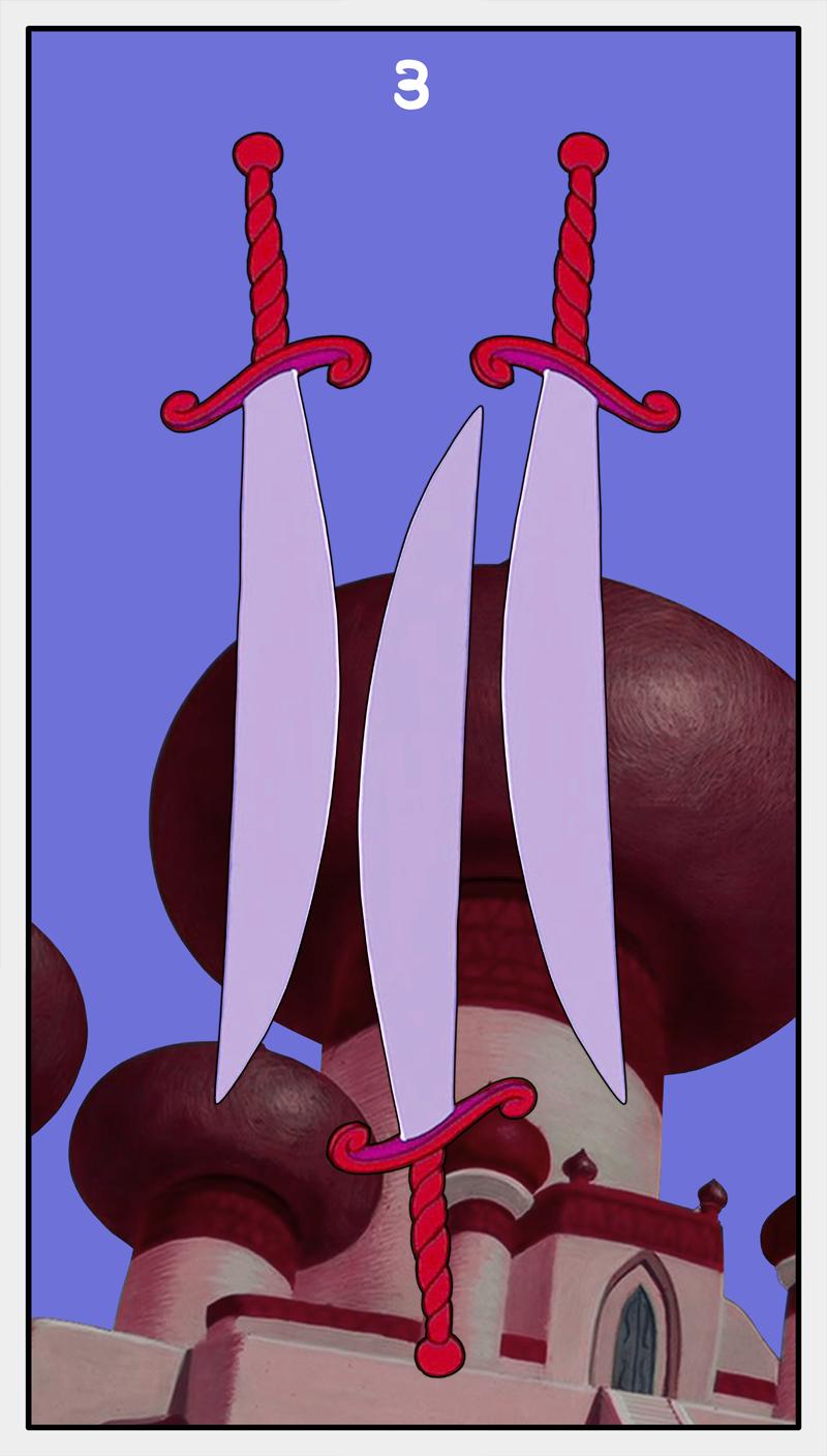Dmorte Tarot Sword: 3
