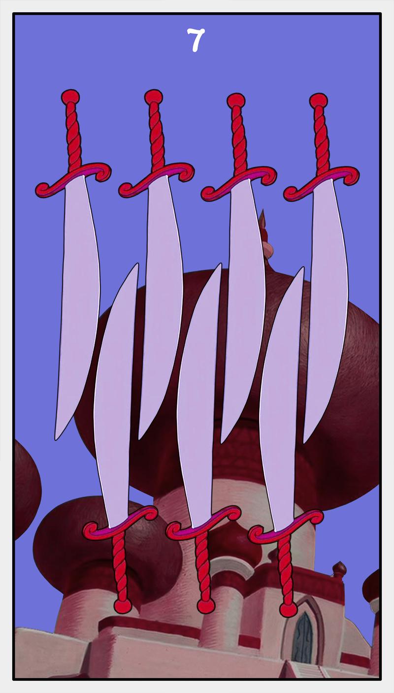 Dmorte Tarot Sword: 7