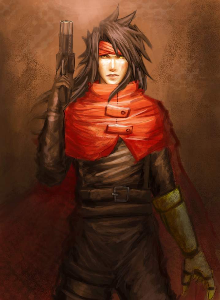 Vincent Valentine - speed painting by erickefata