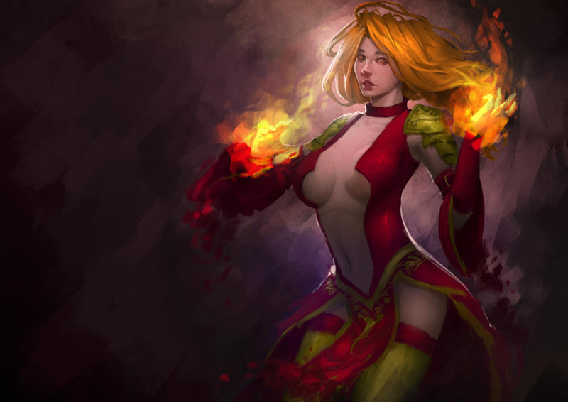 Blood Mage Set, Lina by erickefata