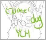1$ gamer dog YCH