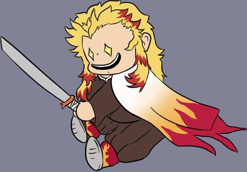 Fire boy gets ouch stick