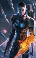 ME2: Shepard by onibox