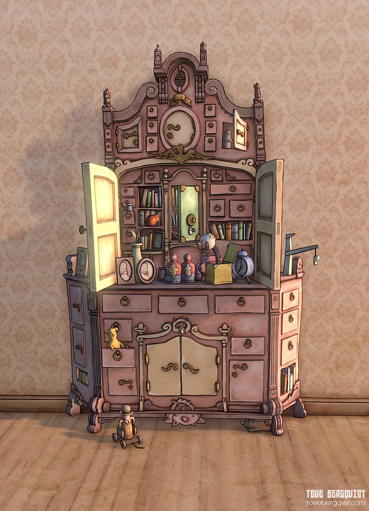 Busy shelf by BurningOn