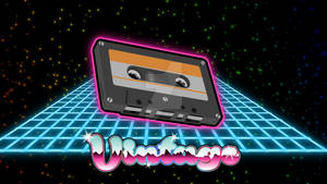 80's cartoon style cassette