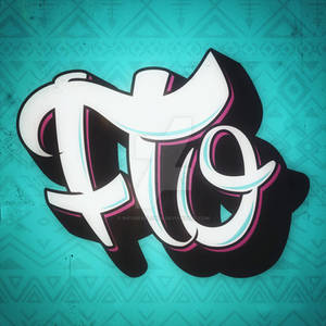 Name hand lettering graffiti style