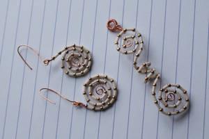 Swirl collection: white'n'gold by Margotka